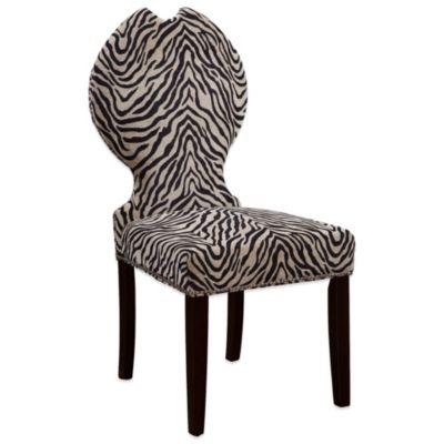 Bassett Mirror Company Raja Parsons Dining Chair in Zebra Print