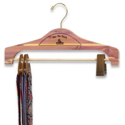 Hanging Cedar Tie Rack