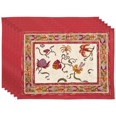 Couleur Nature® Fleurs des Indes Placemats (Set of 6)