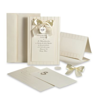 Wilton   Simple Yet Elegant Design Your Own invitation Kit in Ivory ZWetISgF
