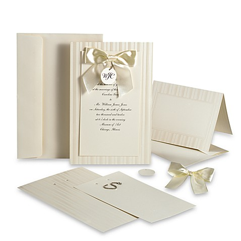 Wilton® Simple Yet Elegant Design-Your-Own invitation Kit in Ivory