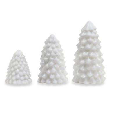 Loft Living 3-Piece Flameless Christmas Tree Set with Timer in White