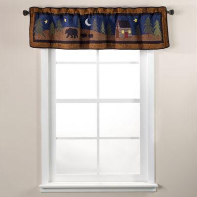 Donna Sharp Midnight Bear Window Valance