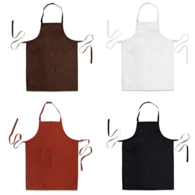 Black Solid Apron