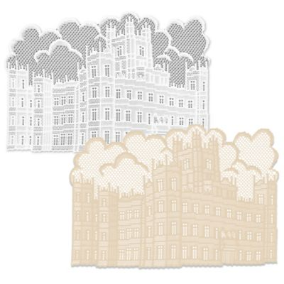 Downton Abbey® Castle Lace Placemats in Cafe (Set of 4)