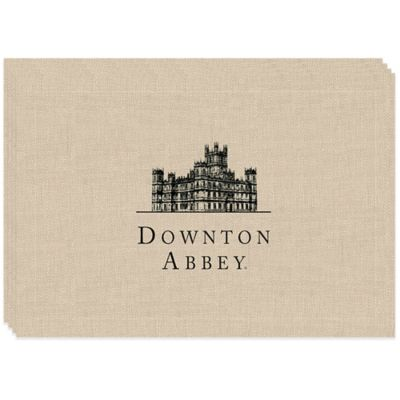 Downton Abbey® Castle Lace Placemats in Beige (Set of 4)