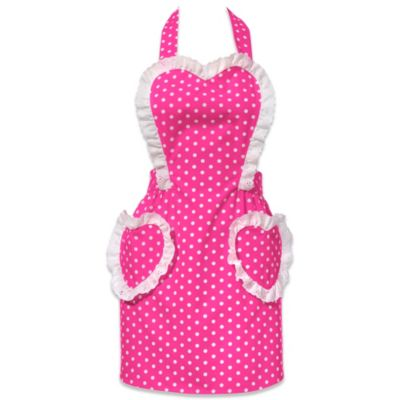 Carolyn's Kitchen Glamour Girl Retro Apron in Hot Pink