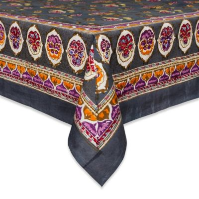Couleur Nature 59-Inch x 86-Inch Pansy Tablecloth