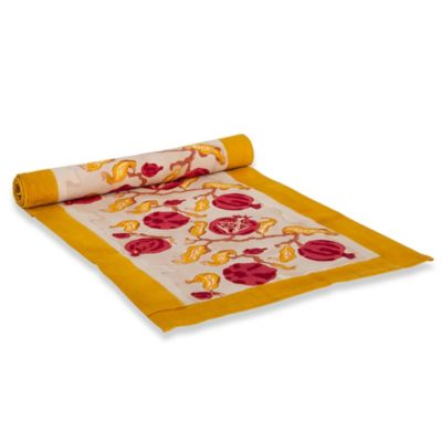 Couleur Nature 90-Inch Pomegranate Table Runner