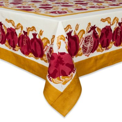 Couleur Nature Pomegranate 71-Inch x 106-Inch Tablecloth