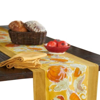 Couleur Nature® Pumpkin 16-Inch x 90-Inch Table Runner in Orange/Mustard