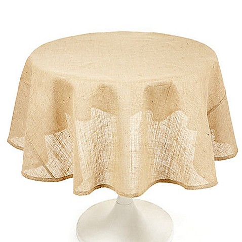 Buy Couleur Nature Natural Burlap Round Tablecloth From
