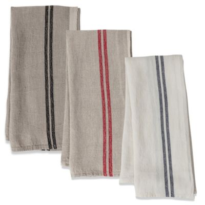 Couleur Nature Striped Linen Tea Towels (Set of 2)