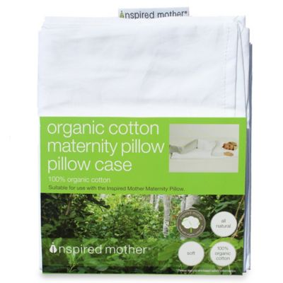 Inspired Mother® Maternity Organic Cotton Pregnancy Pillow Case in White