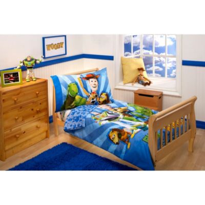 Disney Buzz, Woody and the Gang 4-Piece Toddler Bedding Set