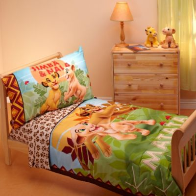 "Disney ""Lion King"" Jungle Beat 4-Piece Toddler Bedding Set"