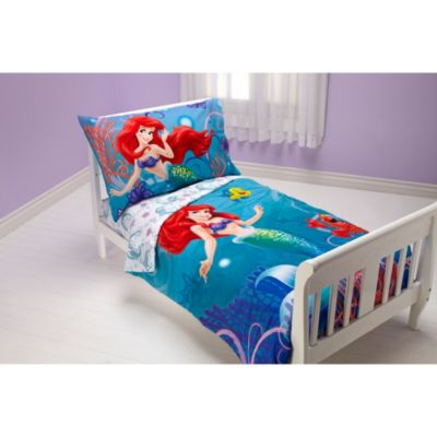 "Disney ""Little Mermaid"" Ocean Princess 4-Piece Toddler Bedding Set"