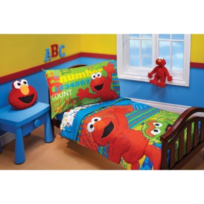 Sesame Street 4-Piece Toddler Bedding Set