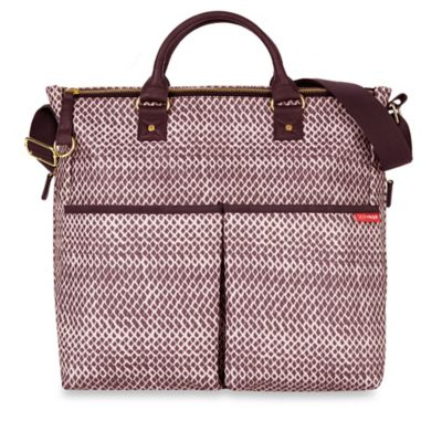 SKIP*HOP® Duo Special Edition Diaper Bag in Plum Sketch