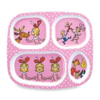 Bumkins® Dr. Seuss Melamine Plate in Cindy Lou Who