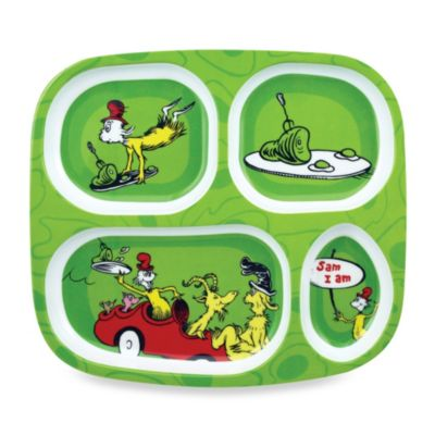 Bumkins® Dr. Seuss Melamine Plate in Green Eggs and Ham