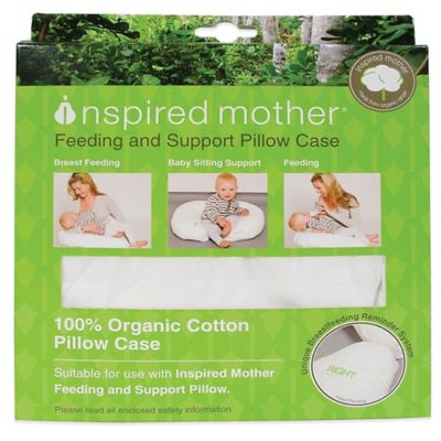 Inspired Mother® Feeding and Support Pillow Case in White