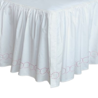 Pink King Bed Skirt