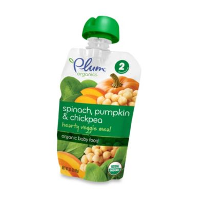 Food > Plum Organics™ Baby 3.5-oz. Stage 2 Hearty Veggie Meals with Spinach, Pumpkin and Chickpea