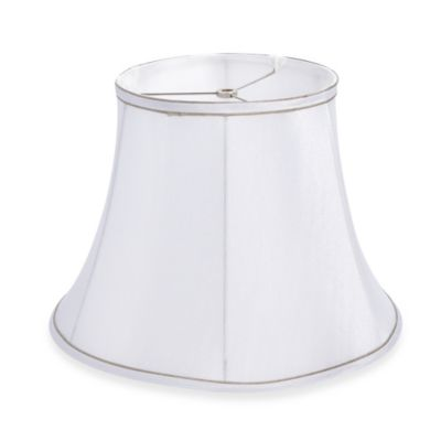Mix & Match Large 15-Inch Trimmed Bell Lamp Shade in White