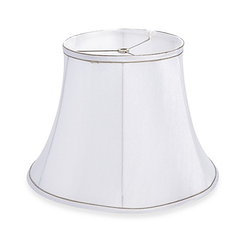 mix match large 15 inch trimmed bell lamp shade in white. Black Bedroom Furniture Sets. Home Design Ideas