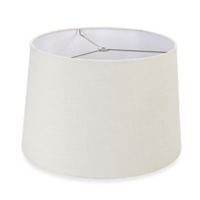 Mix & Match Large 15-Inch Hardback Drum Lamp Shade in Off White