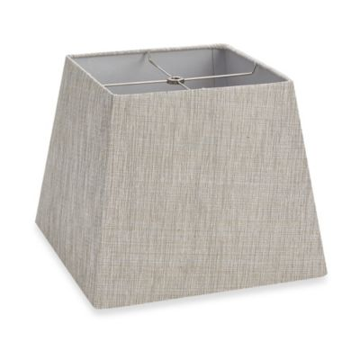 Mix & Match Large 12-Inch Hardback Square Lamp Shade in Grey