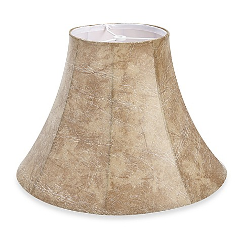 large 17 inch faux leather bell lamp shade from bed bath beyond. Black Bedroom Furniture Sets. Home Design Ideas