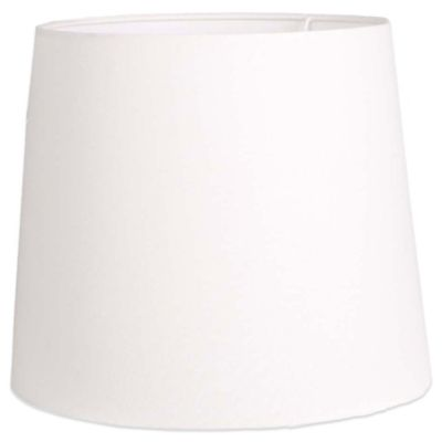 Mix & Match Large 15-Inch Hardback Linen Drum Lamp Shade in White