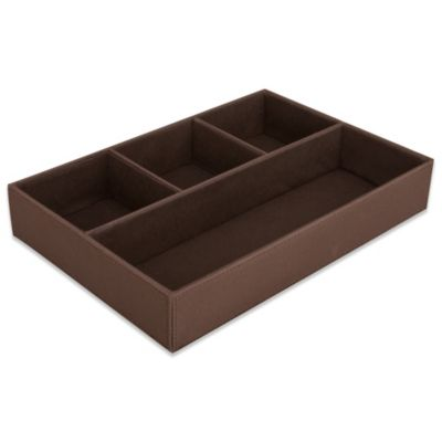 4-Compartment Drawer Organizer in Chocolate