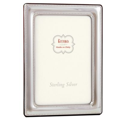 Eccolo™ Double Beaded 4-Inch x 6-Inch Sterling Silver Frame