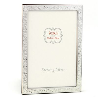Eccolo™ Firenze 4-Inch x 6-Inch Sterling Silver Frame