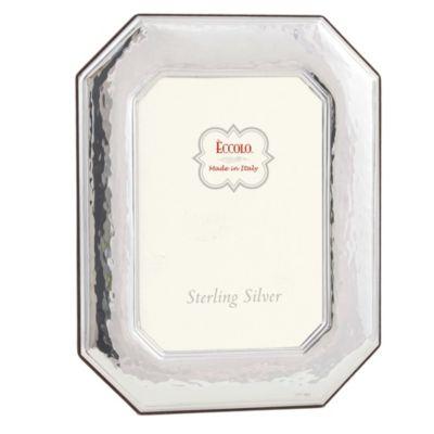 Eccolo™ Octagonal 5-Inch x 7-Inch Sterling Silver Frame