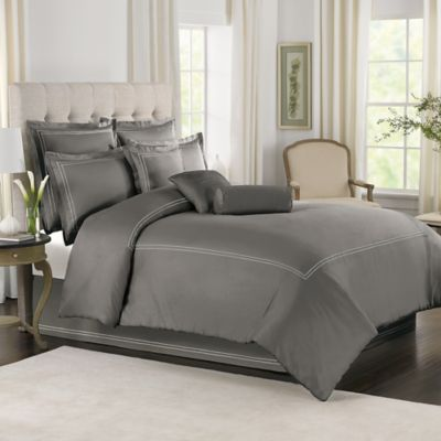Wamsutta® Baratta Stitch Full/Queen Comforter Set in Grey