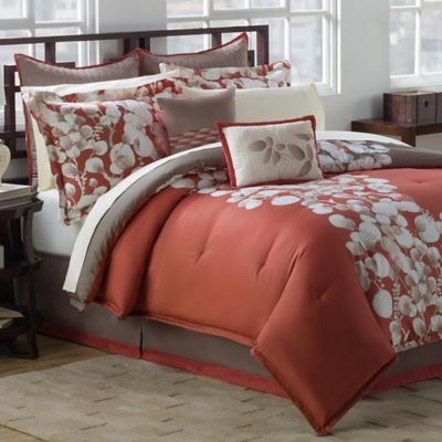 Knightsbridge Reversible King Comforter Set in Cooper/Tan
