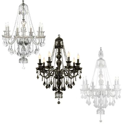 Gallery Venetian Style Crystal 7-Light Chandelier in Clear