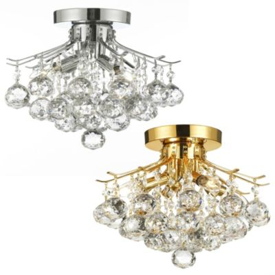 Gallery Empire Crystal Pendant 4-Light Chandelier in Gold