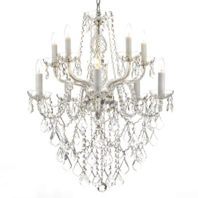Gallery Clear Crystal 10-Light Chandelier