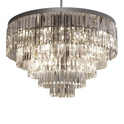 Gallery Odeon Crystal Glass Fringe 17-Light Chandelier