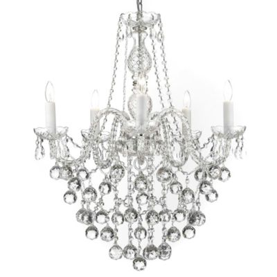 Gallery Crystal 5-Light Chandelier with Crystal Balls