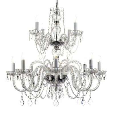 Gallery Venetian Style All Crystal 12-Light Chandelier