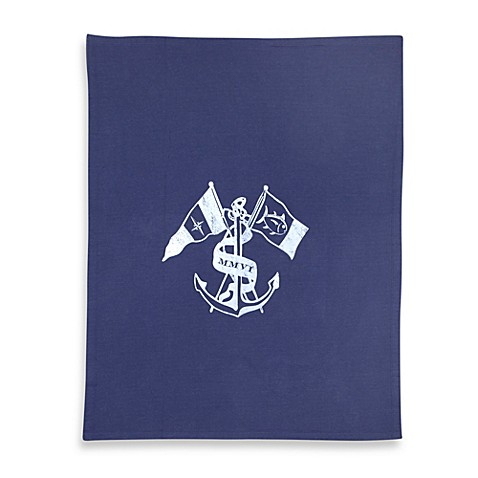 Southern Tide® Ocean Crest Throw Blanket in Navy