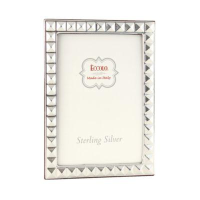 Eccolo™ Pyramid 4-Inch x 6-Inch Sterling Silver Frame