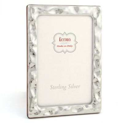 Eccolo™ Crushed 4-Inch x 6-Inch Sterling Silver Frame