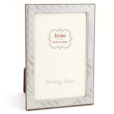 Eccolo™ Diagonal 4-Inch x 6-inch Sterling Silver Frame